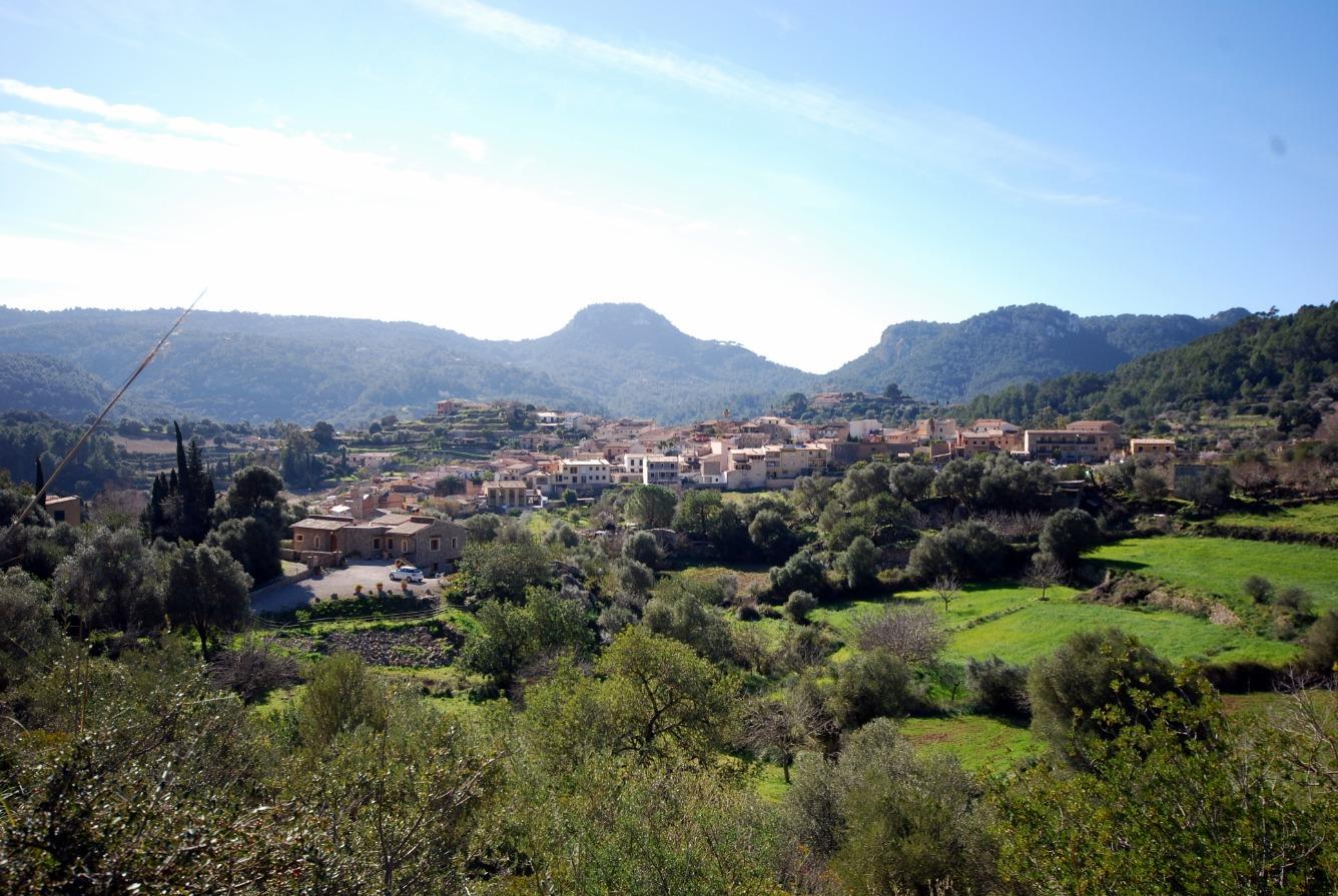 Fantástica finca rústica , en los lindes del pueblo de Puigpunynent , con vistas panorámicas incomparables de la Serra de Tramuntana.
